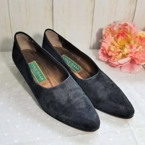 NWT Cole Haan loafer black suede shoe 6 1/2 AA